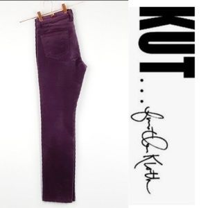 KUT from the kloth DIANA CORDS PLUM SKINNY SIZE 8